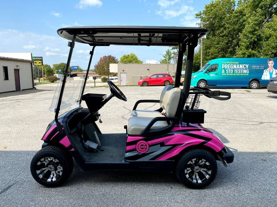 custom wrapped golf cart
